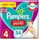 Pampers Pants 4 Active Fit (9-15kg) 54vnt.