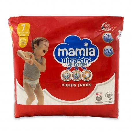 Mamia Nappy Pants 7 (17+Kg) 28vnt.