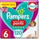 Pampers Pants 6 Active Fit (15+kg) 120vnt.