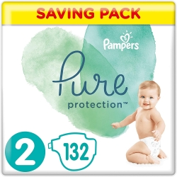Pampers Pure Protection 2 (4-8kg) 132vnt.