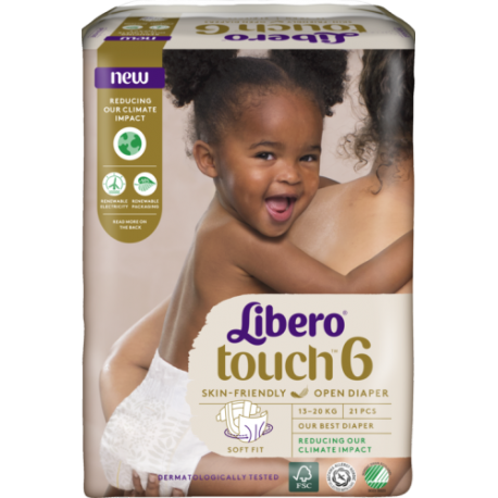 Libero Touch 6 (13-20Kg) 21vnt.