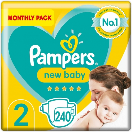 Pampers New Baby 2 (4-8kg) 240vnt.