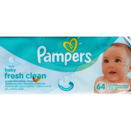 Drėgnos servetėlės Pampers Baby Fresh, 64vnt.