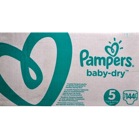 Pampers Baby-Dry 5(11-23kg)144vnt.