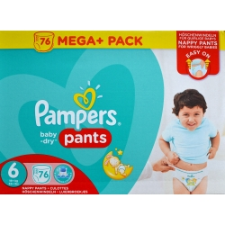 Pampers Pants 6 (15+kg) 76vnt.