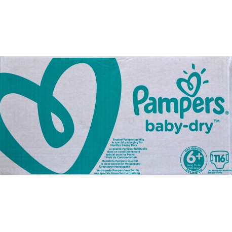 Pampers Baby-Dry 6+ (16+kg) 116vnt.