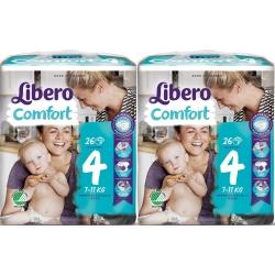 Libero Comfort 4 (7-11Kg) 52vnt.