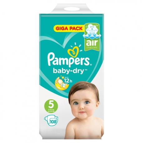 Pampers Baby-Dry 5(11-16kg) 108vnt.
