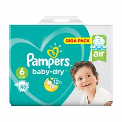 Pampers Baby Dry 6 (13-18kg) 92vnt.