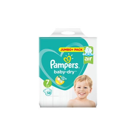 Pampers Baby-Dry 7 (15+kg) 58vnt.