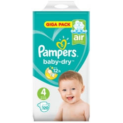 Pampers Baby-Dry 4(9-14kg) 120vnt.