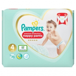 Pampers Pants 4 Premium Protection (9-15kg) 32vnt.
