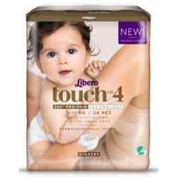 Libero Touch 4 (7-11Kg) 24vnt.