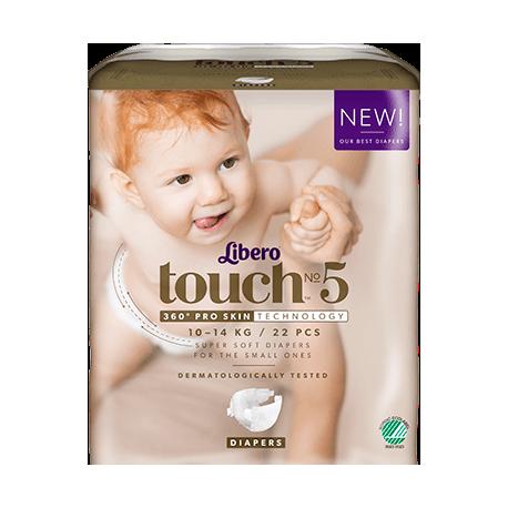 Libero Touch 5 (10-14Kg) 22vnt.