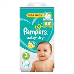 Pampers Baby Dry 3 (6-10kg) 136vnt.