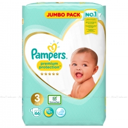 Pampers Premium Protection 3 (6-10kg) 66vnt.