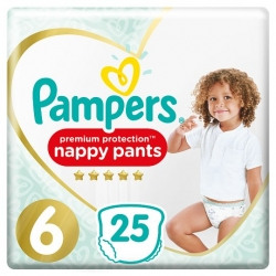 Pampers Pants 6 Premium Protection (15+kg) 25vnt.
