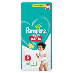 Pampers Pants 6 (15+kg) 52vnt.