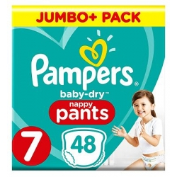 Pampers Pants 7 (17+kg) 48vnt.