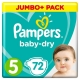 Pampers Baby Dry 5(11-16kg) 72vnt.