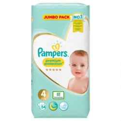 Pampers Premium Protection 4 (9-14kg) 54vnt.