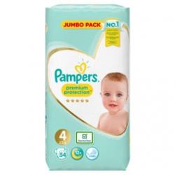Pampers Premium Protection 4 (9-14kg) 54vnt.