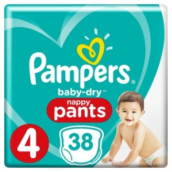 Pampers Pants 4 (9-15kg) 38vnt.