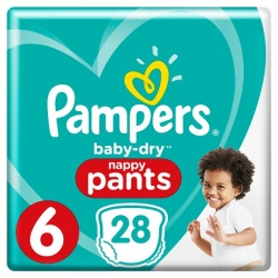 Pampers Pants 6 (15+kg) 28vnt.