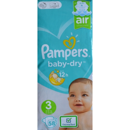 Pampers Baby Dry 3 (6-10kg) 58vnt.