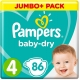 Pampers Baby Dry 4(9-14kg) 86vnt.