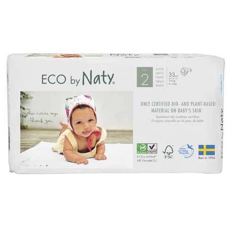Eco by Naty 2 (3-6kg) 33vnt.
