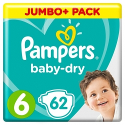Pampers Baby Dry 6 (13-18kg) 62vnt.