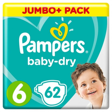 Pampers Baby-Dry 6 (13-18kg) 62vnt.