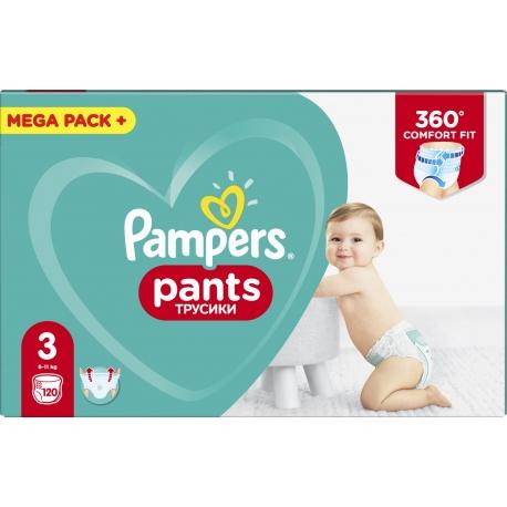 Pampers Pants 3 (6-11kg) 120vnt.