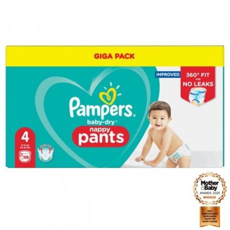 Pampers Pants 4 (9-15kg) 108vnt.