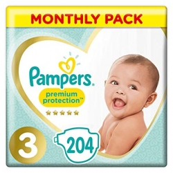 Pampers Premium Protection 3 (6-10kg) 204vnt.