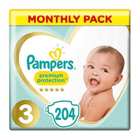 Pampers Premium Protection 3 (6-10kg) 204vnt.