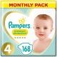 Pampers Premium Protection 4 (9-14kg) 168vnt.