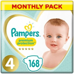 Pampers Premium Protection 4 (9-14kg) 168vnt.