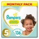 Pampers Premium Protection 5 (11-16kg) 136vnt.