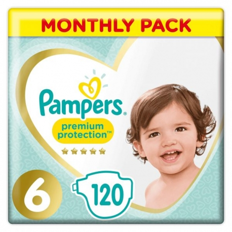 Pampers Premium Protection 6 (13+kg) 120vnt.