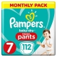 Pampers Pants 7 (17+kg) 112vnt.