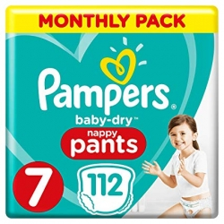 Pampers Pants 7 (17+kg) 112vnt.