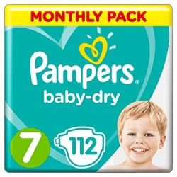 Pampers Baby Dry 7 (15+kg) 112vnt.