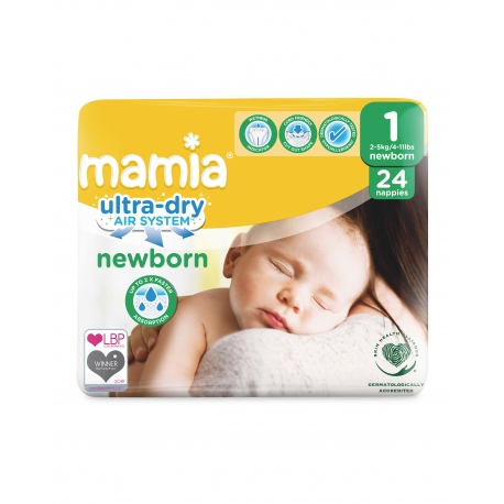 Mamia 1 (2-5kg) 24vnt.