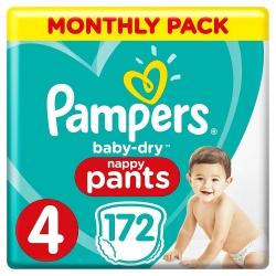 Pampers Pants 4 (9-15kg) 172vnt.