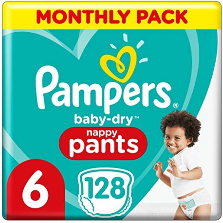 Pampers Pants 6 (15+kg) 128vnt.