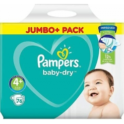 Pampers Baby Dry 4+(10-15kg) 76vnt.