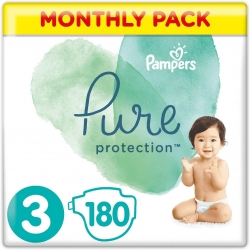 Pampers Pure Protection 3 (6-10kg) 180vnt.