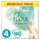 Pampers Pure Protection 4 (9-14kg) 160vnt.